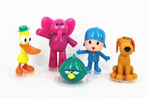 5pcs Set Cartoon Pocoyo Zinkia Doll PVC Action Figures Kids Toys Birthday Gift