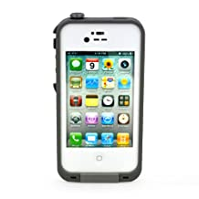 Water proof Shockproof Case Life Dirt Proof Durable Cover Fits Apple Iphone 4 4s (White) by RedPepper
