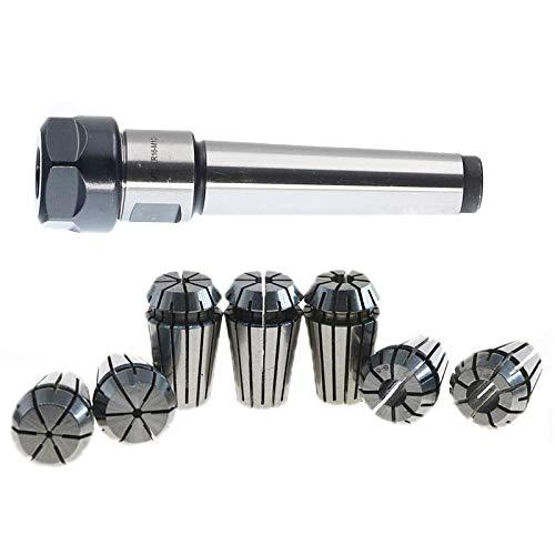 TOOGOO 1set MT2 ER20 M10 MTB2 Collet Chuck Morse#2 Taper ToolHolder+7pcs spring collet CNC Milling Extension Rod ()