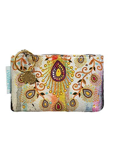 Papaya: Coin Purse, Artistic Change Wallet, Printed Travel Pouch For Cash, Electronic Organizer, Pretty Business Card Holder (Moroccan -