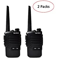 TWAYRDIO TC-D2W Walkie Talkie UHF 400-470MHz 2W 16 Channel Small Rechargeable Handheld Two Way Radio 2pcs