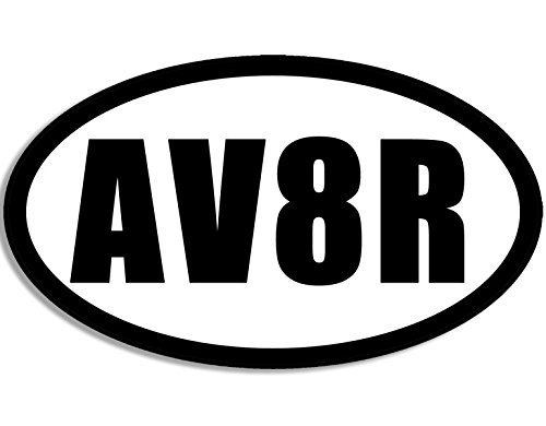 MAGNET Oval AV8R Aviator Magnetic Sticker (decal flying pilot - Nyc Aviator
