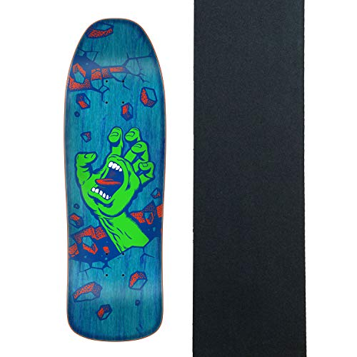 Santa Cruz Skateboard Deck Wall Hand Preissue Old School Shape W/Griptape