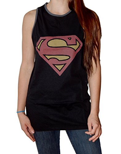 Superman+tank+tops Products : Superman Logo Adult Black Tank Top