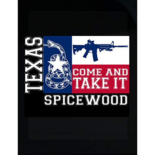(KewlCover Spicewood Texas Come and Take It Ar15 - Transparent Sticker)