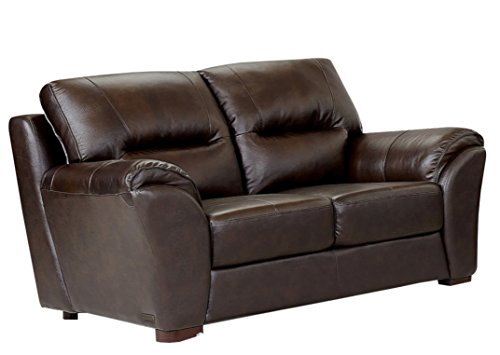 2 Tone Leather Loveseat (Abbyson Orson Leather Loveseat, Two-Tone Brown)