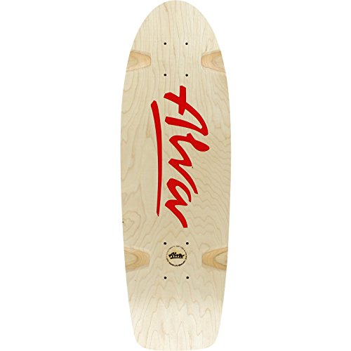 ALVA Bela Reissue Skateboard Deck -8.5x27 Natural/Red Deck ONLY