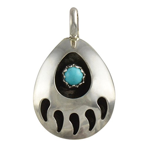 Sterling Silver Bear Claw Pendant Small Navajo Native American - Pendant Bear Sterling