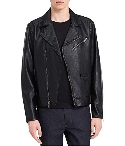 Calvin Klein Jeans Men's Faux Leather Perfecto Jacket, Black Large