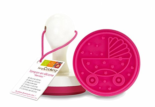 ScrapCooking Cradle Silicone Stamp with Handle for Cookies and Fondant by ScrapCooking