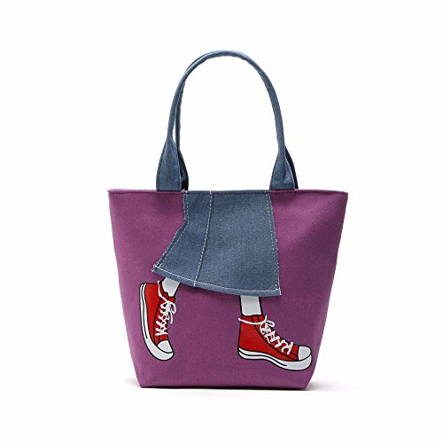Jin And Purple Canvas Bag Woman