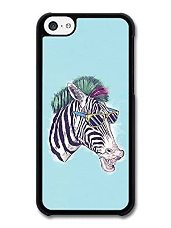 AMAF ? Accessories Funny Zebra With Sunglasses Illustration case for iphone 6 plus