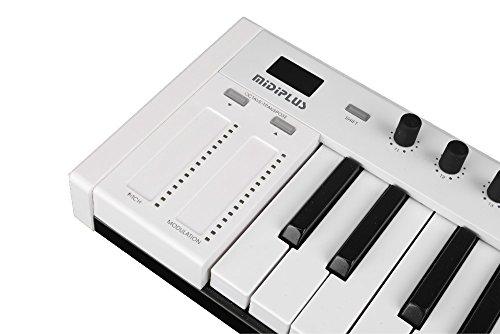 midi controllers midiplus x4 mini keyboard controller white 4713809432380 ebay. Black Bedroom Furniture Sets. Home Design Ideas