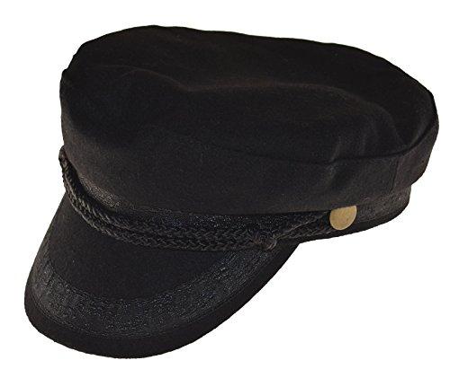 Broner Wool Blend Fisherman Cap Greek Sailor Hat Black Large