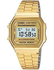 Casio Gold A168WG-9 Digital Alarm Eliminator Light A168WG-9W Sport Watch A168WG