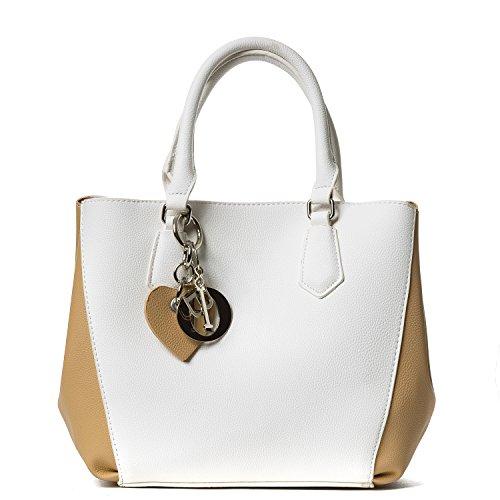 Handbag Republic Women Fashion PU Leather Cute Shoulder Bag Top Handle Bag Love Heart Charm Korean Design
