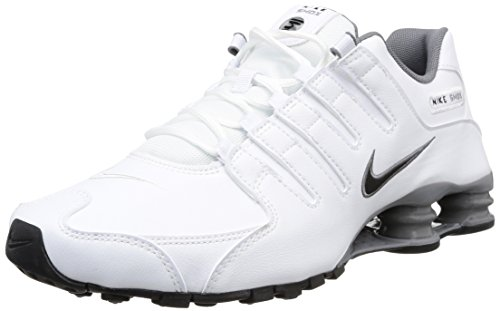 Nike Shox NZ Mens Running Sneakers 378341 102, 10.5 (Shoe Sneaker Shox)
