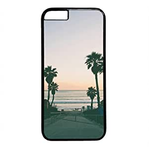 California Beach Palm Tree Case for iphone 5s PC Material Black