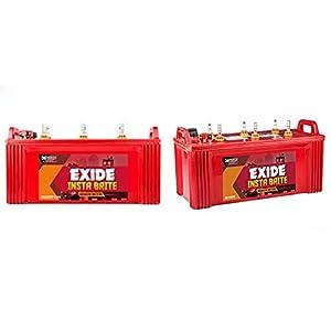 EXIDE INDUSTRIES Insta Brite 150Ah Inverter Ups Battery 36 Months (18 F+18 P) – Pack of 2