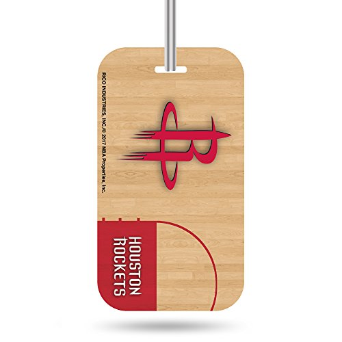 Nba Crystal (NBA Houston Rockets Crystal View Team Luggage Tag, Tan, 7.5-inches by 3-inches by 0.5-inch)