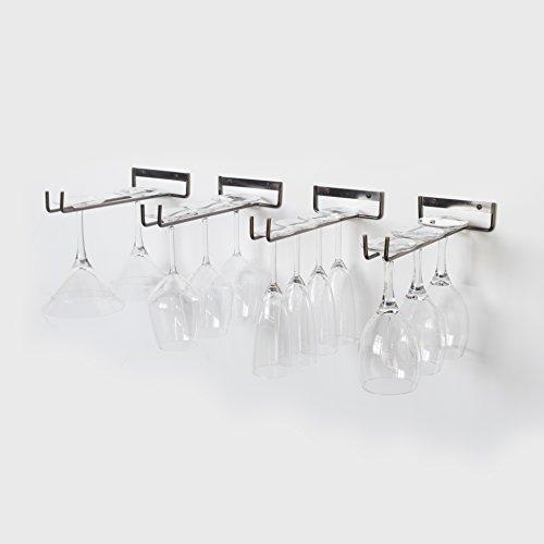 WALLNITURE Stemware Rack Wine Glass Hanger Under Cabinet ...