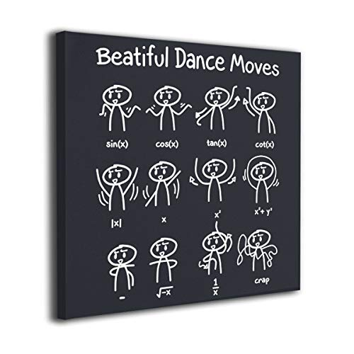 WONDER 4 Dance Moves Math Modern Wall Decor/Home Decor Canvas Wall Art Stretched and Ready to Hang