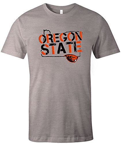 Image One NCAA Oregon State Beavers Adult Unisex NCAA Stenciled Short sleeve Triblend (Oregon State Basketball)
