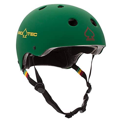 Protec Pads Helmets Skate - Pro-Tec Classic Cert, Matte Rasta Green, S