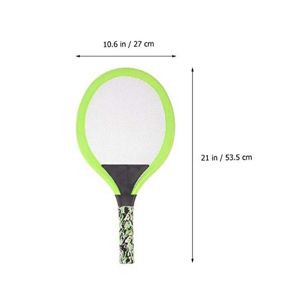 BESPORTBLE Set di Racchette da Tennis Maniglie Resistenti Badminton Racchette da Gioco Giochi da Spiaggia per Bambini… 2 spesavip
