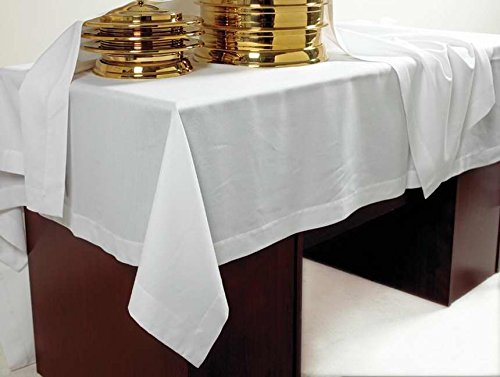 Communion - Table Cover - Poly/Rayon White - (50 X 86) by B&H Publishing Group