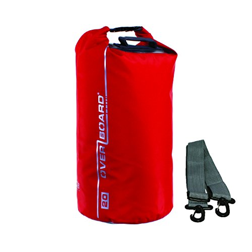 OverBoard Waterproof Dry Tube Bag, Red, 20-Liter