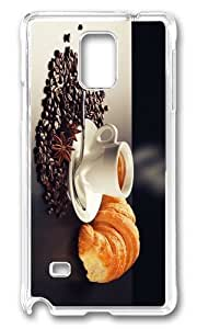Adorable coffee croissant breakfast Hard Case Protective Shell Cell Phone Iphone 5C - PC Transparent