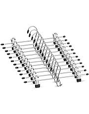 Heavy-Duty Add-On Metal Hangers with Clips, Multi Stackable Add on Hangers, Adjustable Clip Pants Hanger, Skirt Hanger with Clips 360° Swivel Hook, Cascading Clip Hanger Jeans, Slacks, Bottoms