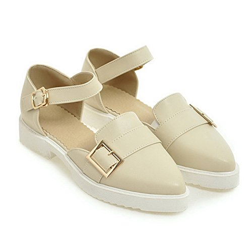 BalaMasa Womens Platform Approach-Hiking Pointed-Toe Urethane Sandals ASL04917 Apricot rMq8dytp