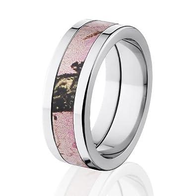 Camouflage Wedding Band Pink Breakup Camo Rings Mossy Oak Camo