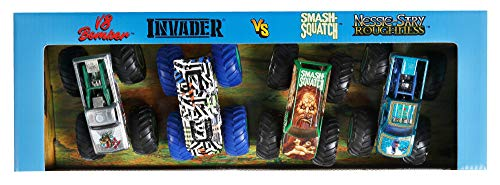 Hot Wheels Monster Trucks 1:64 Scale 4-Pack with Giant Wheels Gift Idea for Kids 3 to 6 Years Old [Sytles May Vary]