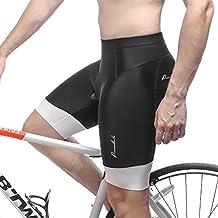 Przewalski Mens 3D Padded Cycling Shorts, Bike Biking Half Pants, Cycle Clothes for Road Riding Biker - 3-Layer Bicycle Padding & 7CM Width Anti-Slip Cuff