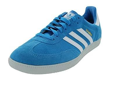 adidas Samba Men's Sneakers Solar Blue/Running White/Clear Grey D65454 (SIZE: 13)