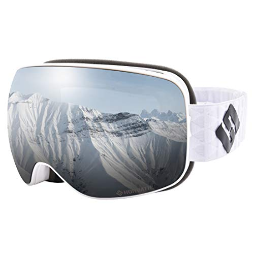 592cff6e734 SH HORVATH Ski Snowboard Goggles UV Protection Super Anti-Fog Coated Inner  Lens with Quick Change Lens System for Men Women Youth