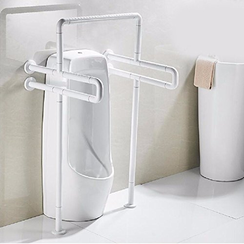 HQLCX Handrail Bathrooms And Handrails Bathroom Public Toilet Safety Barrier Free Stainless Steel Handrails,White by HQLCX-Handrail