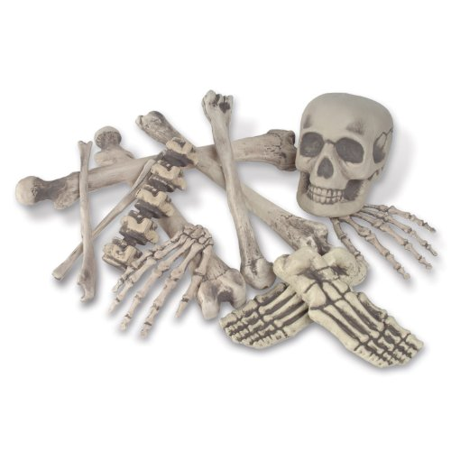 Skeleton Decoration Bone Décor, Bag of Bones, 6 inches to 16 inches, 12 Piece Set -