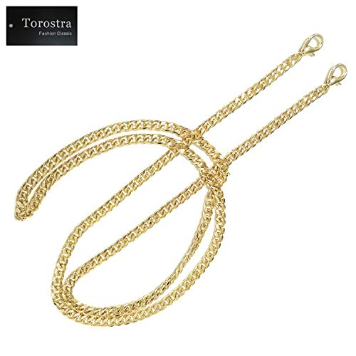 Torostra BL-G 6MM Width Chain Strap Handbags Replacement Chains for Wallet Clutch Satchel Tote Bag 47