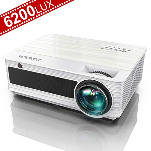 Projector, YABER Native 1080P Movie Projector with 6200 Lumens 78,000 Hours X/Y Zoom Function, Full HD Video Projector Compatible with iPhone,Android,PC,TV Box,PS4 for Home/Outdoor/Gaming