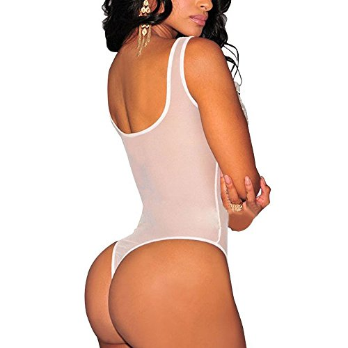 Orlando Johanson New Lingerie for Women for Sex Chemises Lingerie Babydoll Chemise(L, White) Comfortable