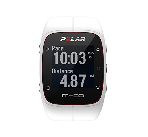 Polar M400 GPS Smart Sports Watch and Fitness Tracker (White) (Best Boot Camp App)