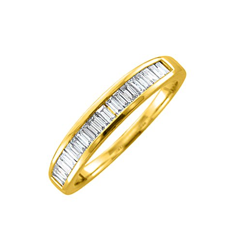Diamond Baguette Channel Band - 14K Yellow Gold Baguette-cut Diamond Wedding Anniversary Ring Band (1/2 carat)