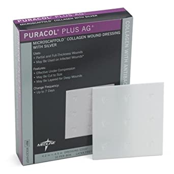 Puracol Plus AG Collagen Wound Dressing (Case of 50)