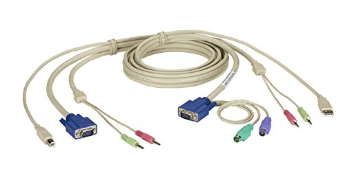 Black Box KVM CABLE VGA, PS/2, USB, AUDIO, DT PRO SERIES, (Black Box Kvm Cpu)