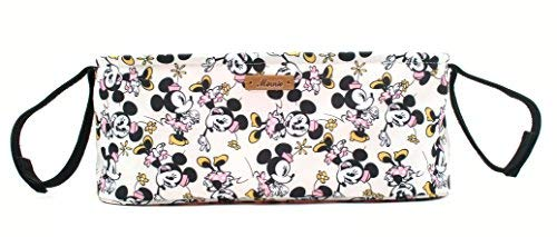 - Disney Smile Mickey Minnie Mouse Organizer Diaper Storage Space for Cup Hoders, iPhones, Diapers, Toys (Ivory)