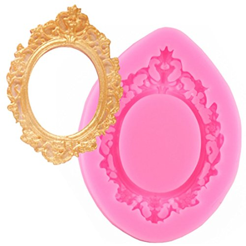 - TraveT Mirror Frame Silicone Mold Fondant Silicone Mold for Sugarcraft, Cake Border Decoration, Cupcake Topper